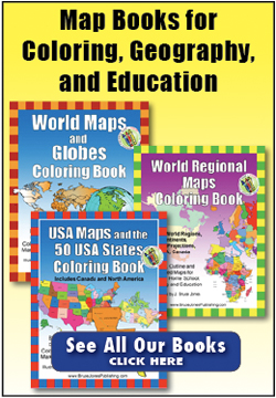 printable, blank maps, coloring books