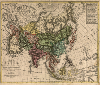 Asia 1805 Antique Map China, japan, historical, vintage royaty free clip art