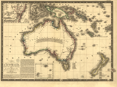 Australia 1826, antique historical rare map, vintage, royalty free, clip art