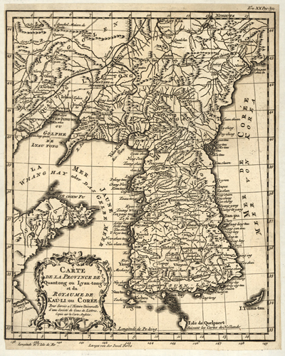 Korea 1750 antique rare map, japan, china, royalty free, clip art
