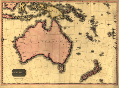 Australia 1818 antique rare map, historical vintage, royalty free, clip art