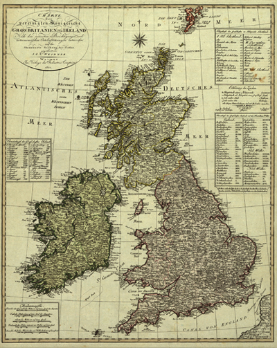 British Isles, 1801, Great Britain Antique Historical maps, Royalty Free