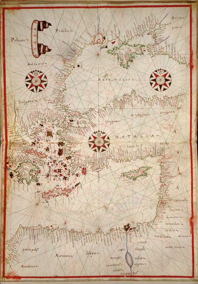 map of middle east and europe. Eastern Mediterranean 1590 map