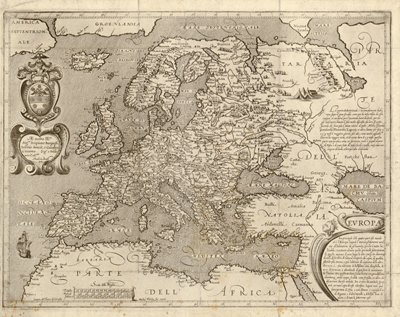 Europe 1600 antique historical, royalty free. cartography, clip art