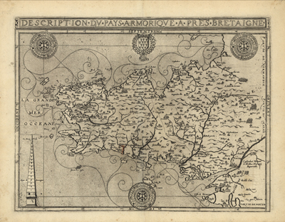France 1594, Europe, Germany, antique historical, rare maps, old prints, royalty free