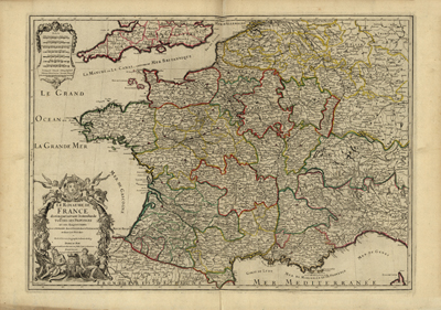 France 1724, europe, atlas, vintage antique map, clip art, royalty free