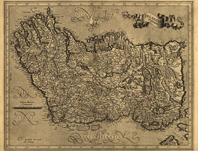 Ireland 1600s map, antique map, europe, great britain, royalty free, Irish, clip art