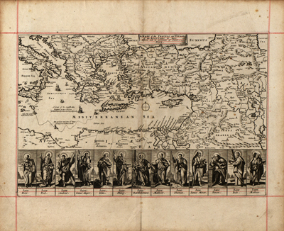 Mediterranean 1680 vintage rare map, antique, italy, greece, spain, north africa, royalty free, clip art
