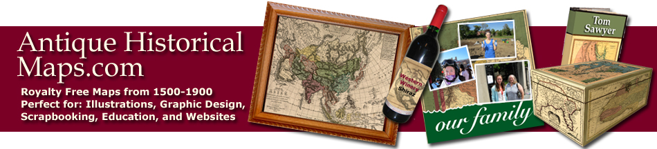 antique historical maps home page, vintage royalty free maps
