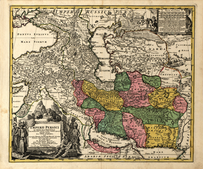 Iran Middle East, 1724 Map, Antique Historical, Cartography, Royalty Free, clip art