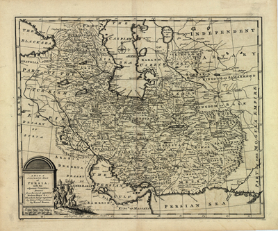 Iran Persia 1774 map, Antique Historical, rare map, royalty free, clip art