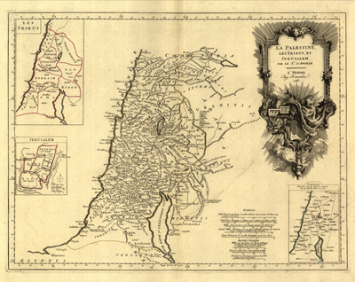 Palestine 1783 Antique Map, heritage, vintage, royalty free, clip art