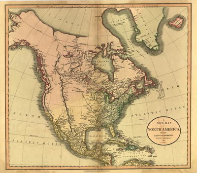 north america 1811 antique historical united states map royalty free antiquarian