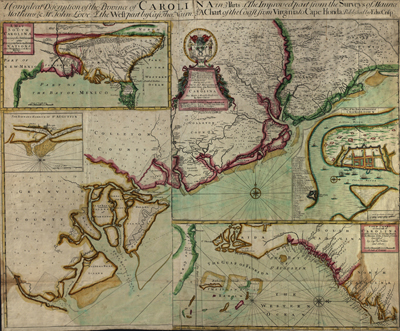 Carolinas map 1711, usa, america, states, antique rare map, royalty free, clip art