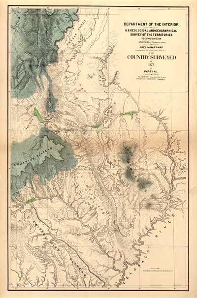 Utah State 1875 USA, Antique Rare map, royalty free, clip art