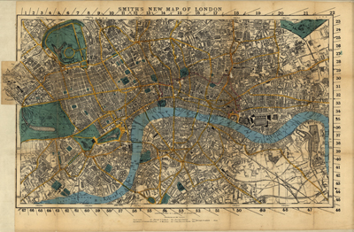 London, Great Britain map, 1860, anqitue rare map, royalty free, clip art