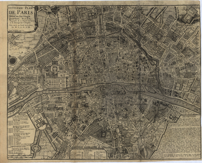 paris  france map 1700s