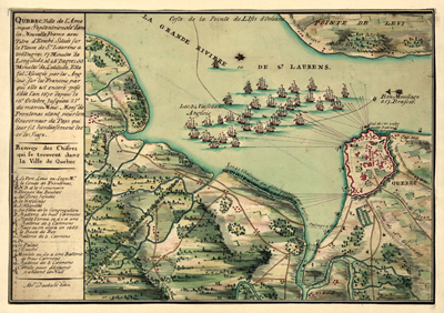 Quebec, Canada map, 1755, antique historical map, royalty free, clip art