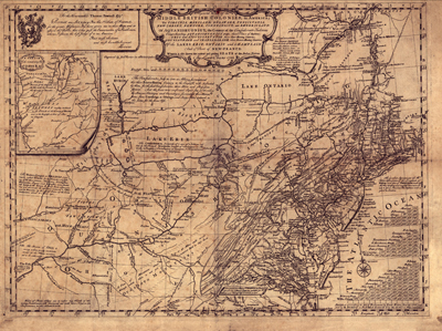 North Easten United States, 1755 Antique Historical Map, Royalty Free, Clip Art, USA, US, America