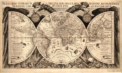 Antique World Projection Clip Art Map, Royalty Free, Vintage, old map, old print