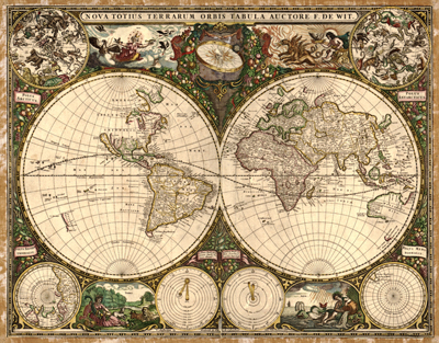 World projections antique historical royalty free clip art maps antique vintage historical map 1660 royalty free rare map clip art gumiabroncs